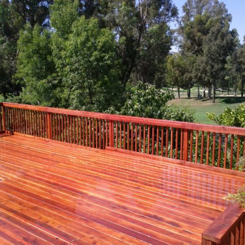 Your Deck Builder Hillside Redwood Deck, Encino