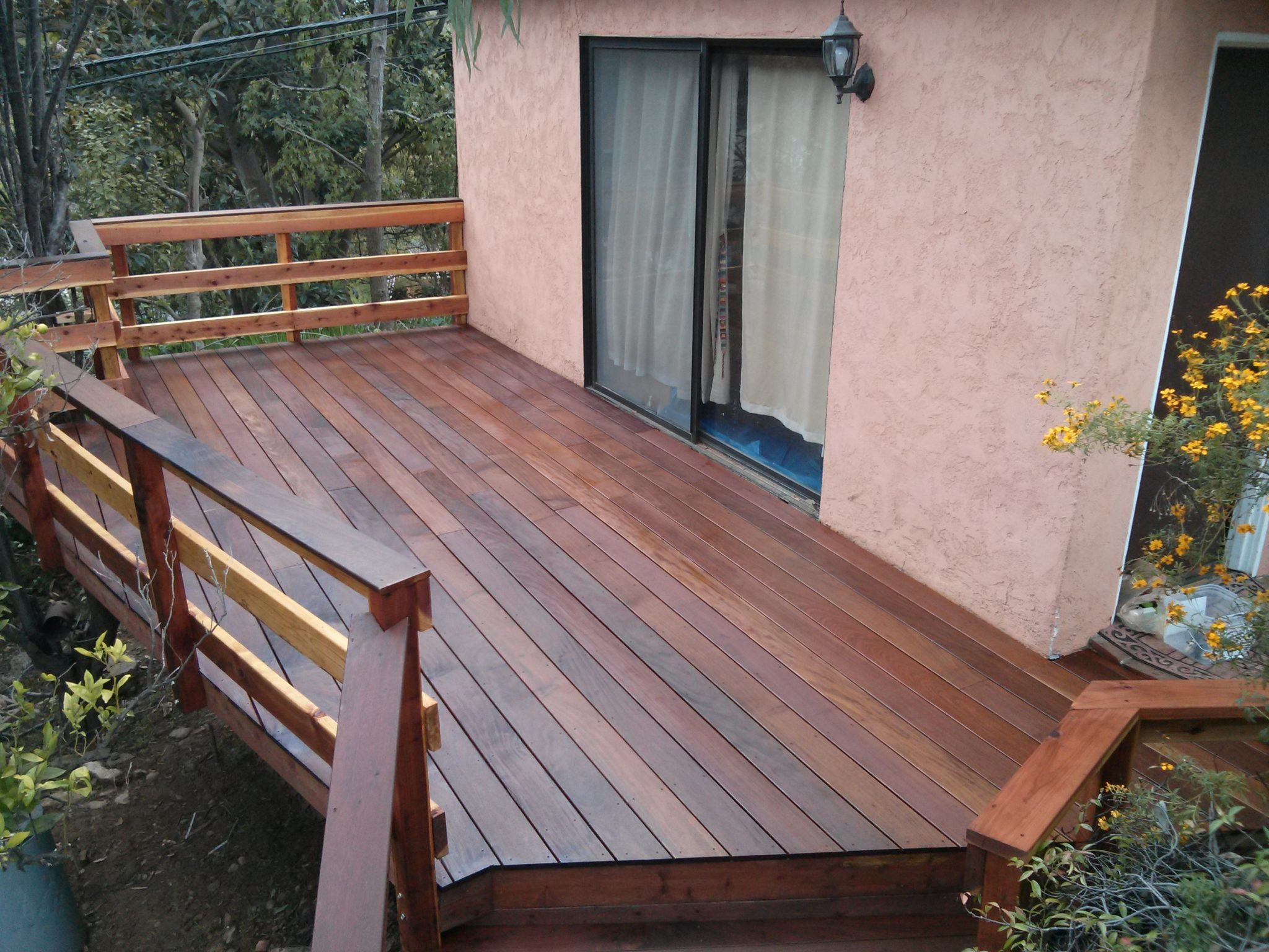 Ipe Deck with Redwood rails, Pacific Palisades